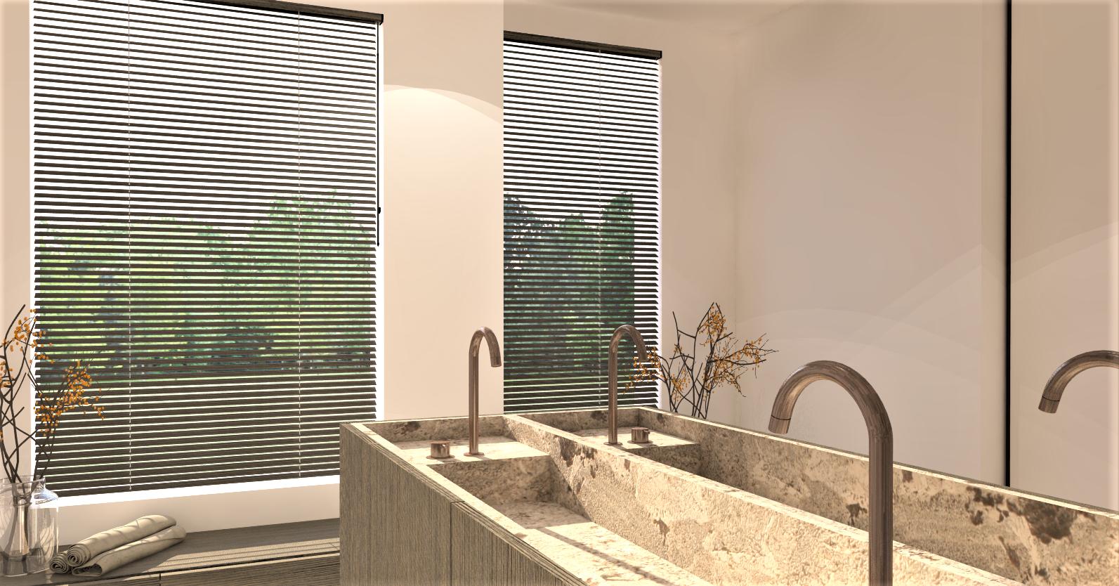 3D render badkamer