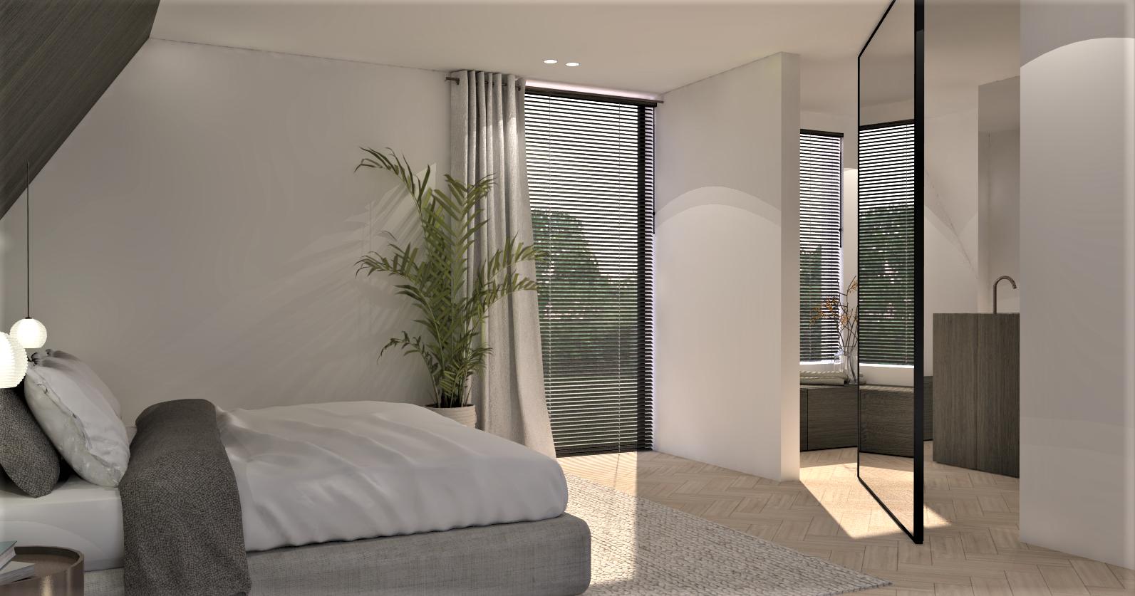 3D render slaapkamer